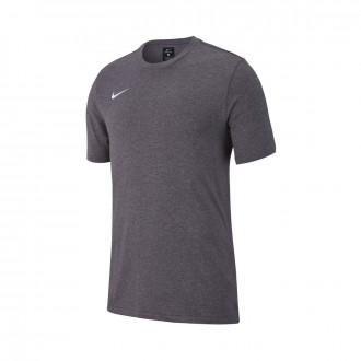 Maglia  Nike Club 19 m/c Niño Charcoal heather-White