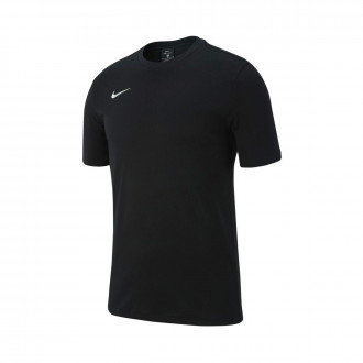 Camiseta  Nike Club 19 m/c Niño Black-White