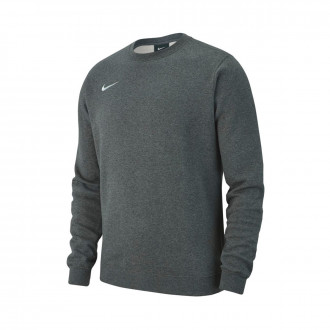 Sweatshirt  Nike Club 19 Crew Crianças Charcoal heather-White
