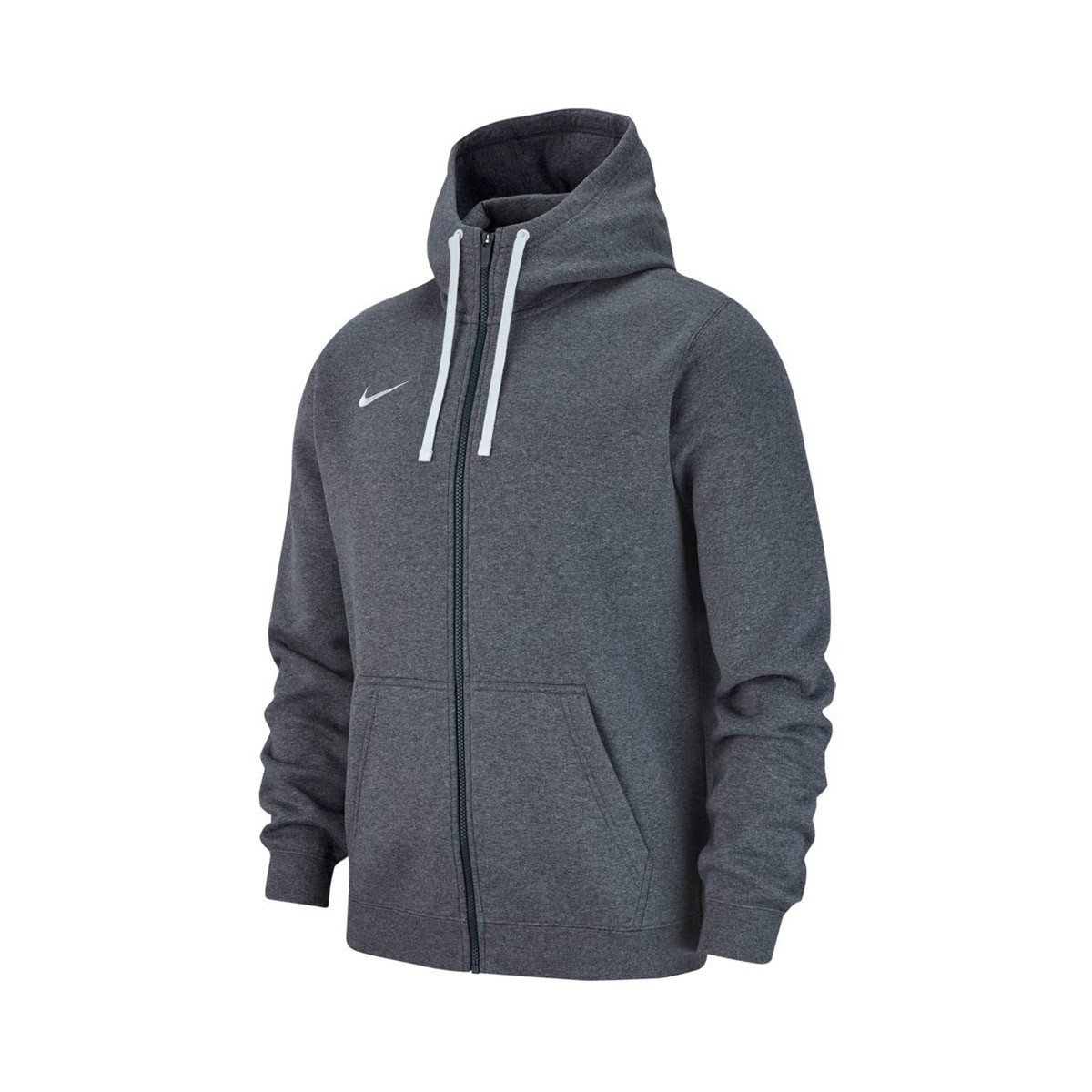 19a233a3d34e2 Chaqueta Nike Club 19 Full-Zip Hoodie Niño Charcoal heather-White - Tienda  de fútbol Fútbol Emotion