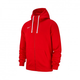 Giacca  Nike Club 19 Full-Zip Hoodie Niño University red-White