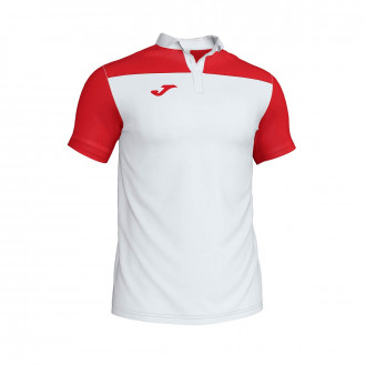 Polo shirt  Joma Crew III m/c White-Red