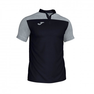 Polo shirt  Joma Crew III m/c Black-Grey