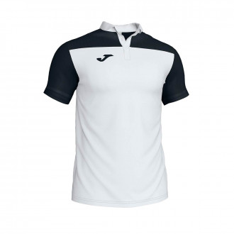 Polo shirt  Joma Crew III m/c White-Black