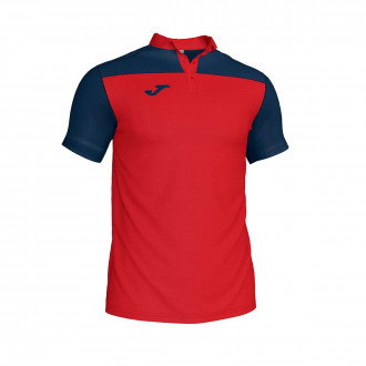 Polo shirt  Joma Crew III m/c Red-Navy blue