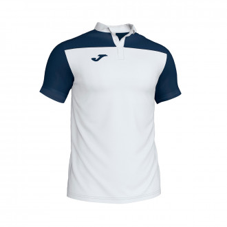 Polo shirt  Joma Crew III m/c White-Navy blue