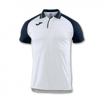 Polo shirt  Joma Torneo II m/c White-Navy blue