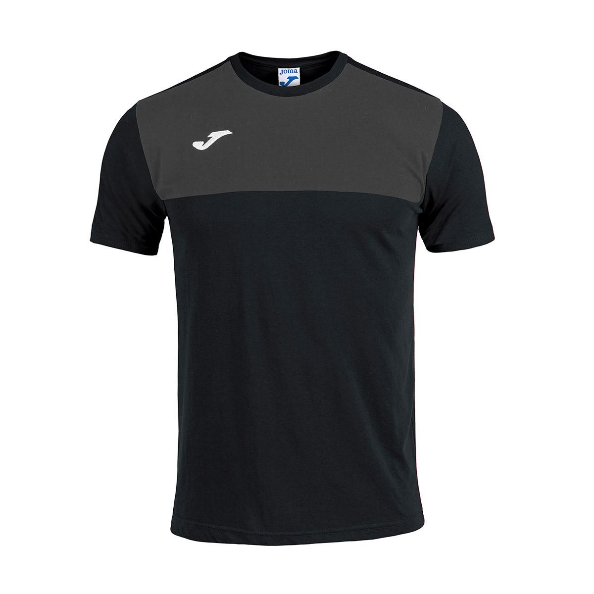 3e44ea02b86 Jersey Joma Winner Cotton m/c Black-Antracita - Football store ...