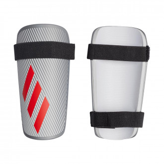 Shinpads  adidas X Lite Silver metallic-Hi-Res red-White
