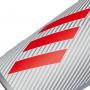 Espinillera X Lite Silver metallic-Hi-Res red-White