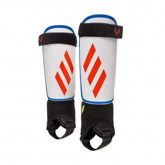 Shinpads  adidas Messi Niño White-Crystal white-Football blue-Solar yello