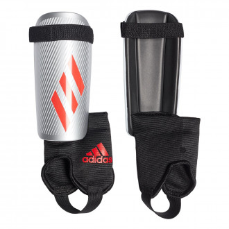 Shinpads  adidas X Niño Silver metallic-Hi-Res red-Black