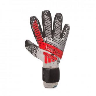 Glove  adidas Predator Pro Silver metallic-Black-Hi-Res red