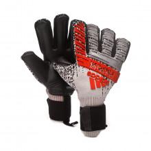 Luvas Predator Pro FingerSave Silver metallic-Black-Hi-Res red