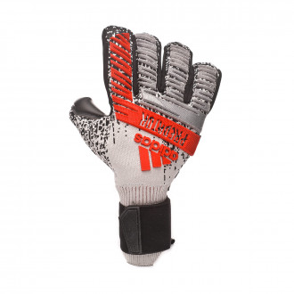 Glove  adidas Predator Pro FingerSave Silver metallic-Black-Hi-Res red