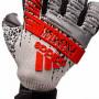 Guante Predator Pro FingerSave Silver metallic-Black-Hi-Res red