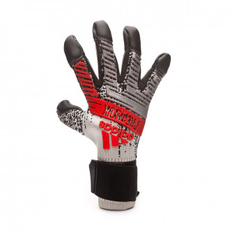Glove  adidas Predator Pro Hyb Silver metallic-Black-Hi-Res red