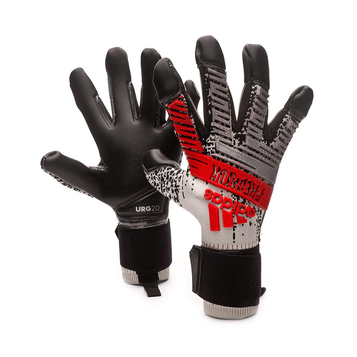 cortar completar desinfectante  Guante de portero adidas Predator Pro Hybrid Silver metallic-Black-Hi-Res  red - Tienda de fútbol Fútbol Emotion