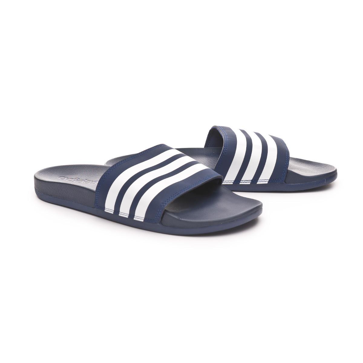 emulsión impuesto Superposición  Chanclas adidas Adilette Comfort Dark blue-White - Tienda de ...