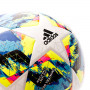 Balón Finale Training White-Bright cyan-Solar yellow-Shock pink