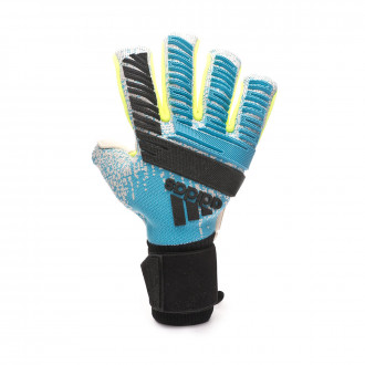 Glove adidas Predator Pro FS PC Bright cyan-Silver metallic-Solar yellow-Blac