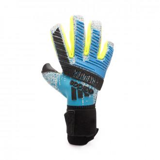Glove adidas Predator Pro Bright cyan-Silver metallic-Solar yellow-Blac