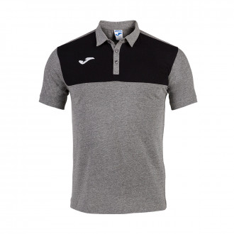 Polo shirt  Joma Winner m/c Gris melange-Black