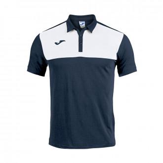 Polo  Joma Winner m/c Bleu marine-Blanc