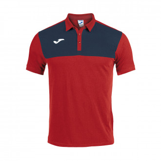 Polo shirt  Joma Winner m/c Red-Navy blue