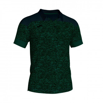 Polo  Joma Winner II Cotton m/c Vert-Noir