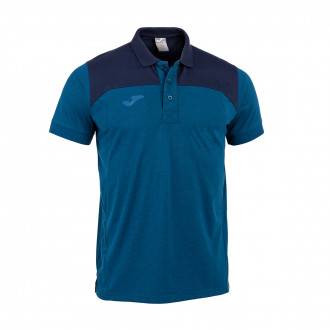 Polo  Joma Winner II Cotton m/c Royal-Bleu marine