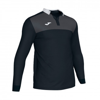 Polo  Joma Winner II m/l Noir-Antracita