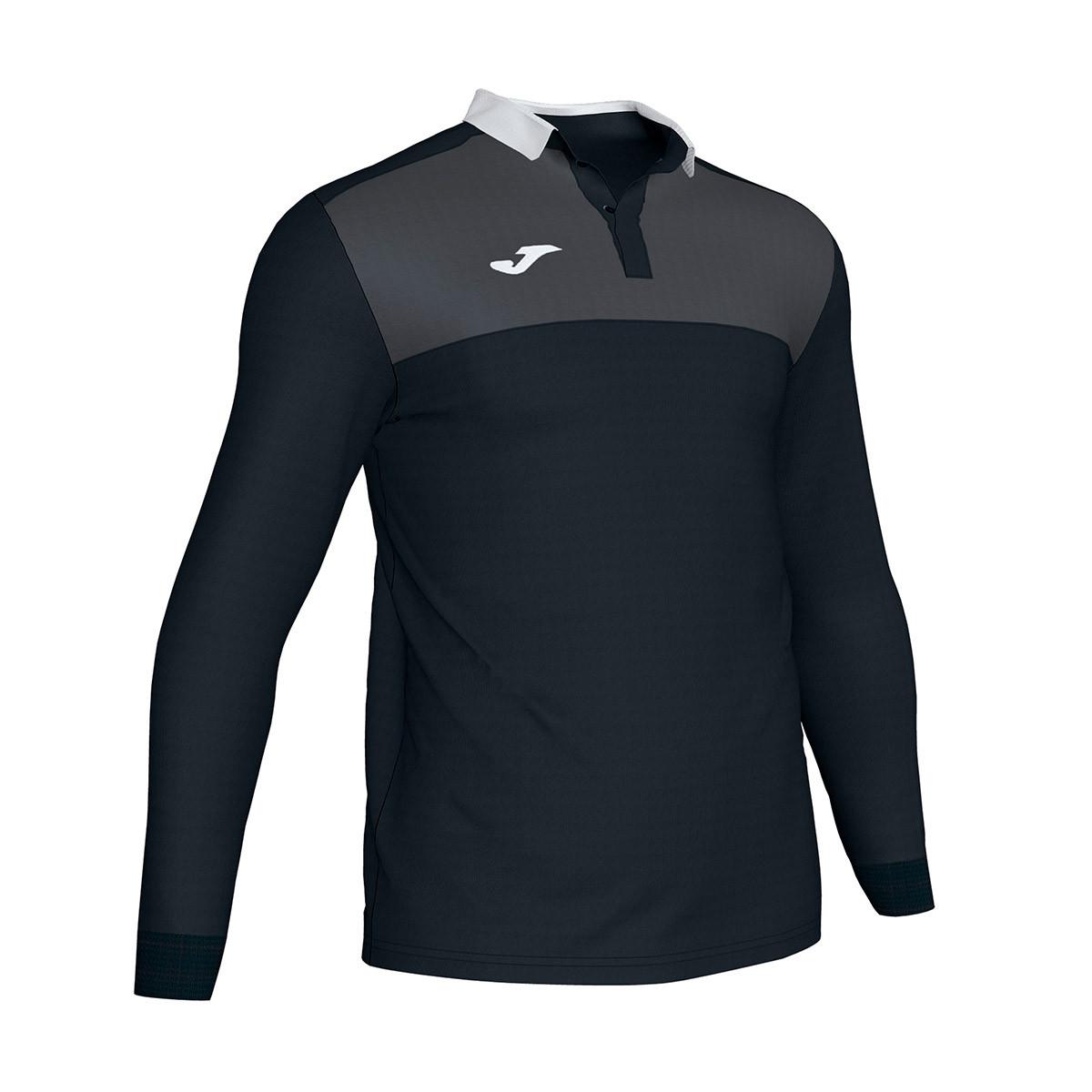 cb242b4ea0ce Polo shirt Joma Winner II m/l Black-Antracita - Football store ...