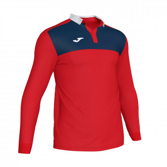 Polo shirt Joma Winner II m/l Red-Navy blue