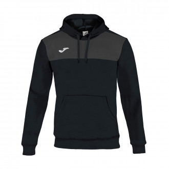 Sweat Joma à capuche Winner Cotton Noir-Anthracite