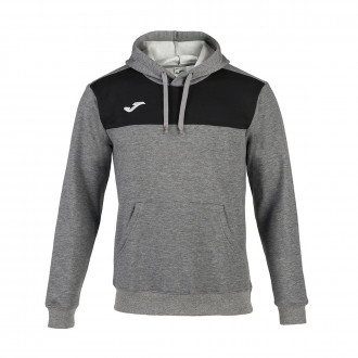 Sweat Joma à capuche Winner Cotton Gris melange-Noir