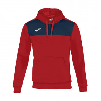 Sweat Joma à capuche Winner Cotton Rouge-Bleu marine