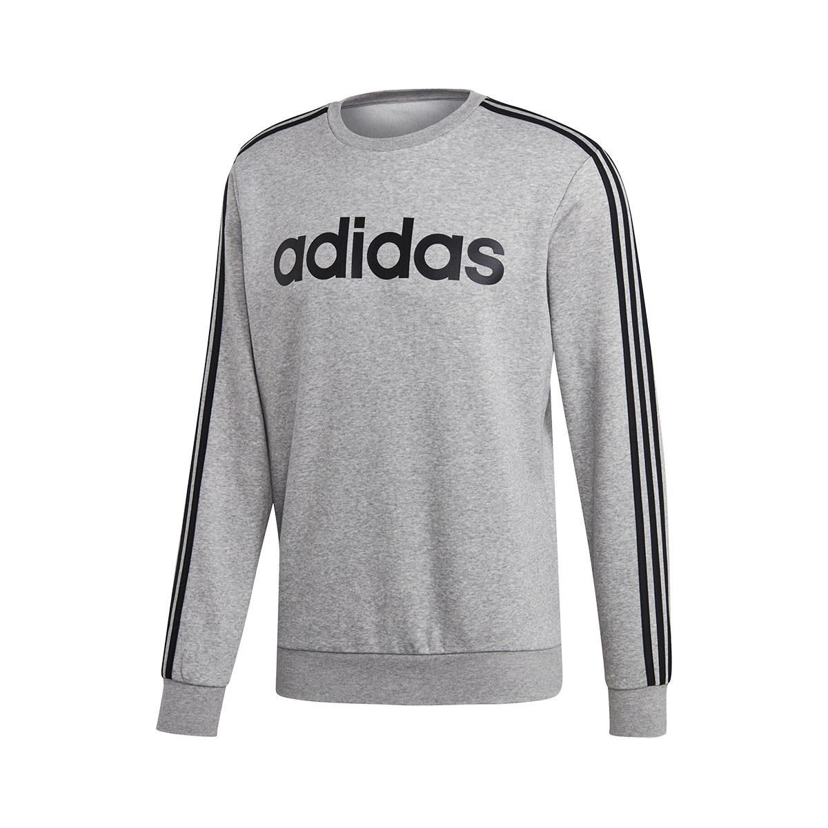 familia Cereal Explosivos  Sweatshirt adidas Essentials 3 Stripes Crew Fleece Grey - Football store  Fútbol Emotion