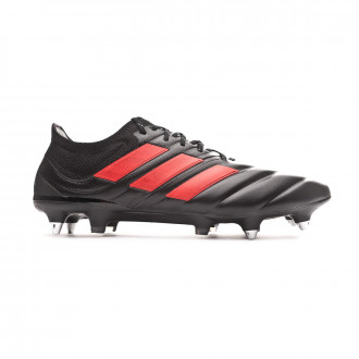 Chaussure de foot  adidas Copa 19.1 SG Core black-Hi red-Silver metallic