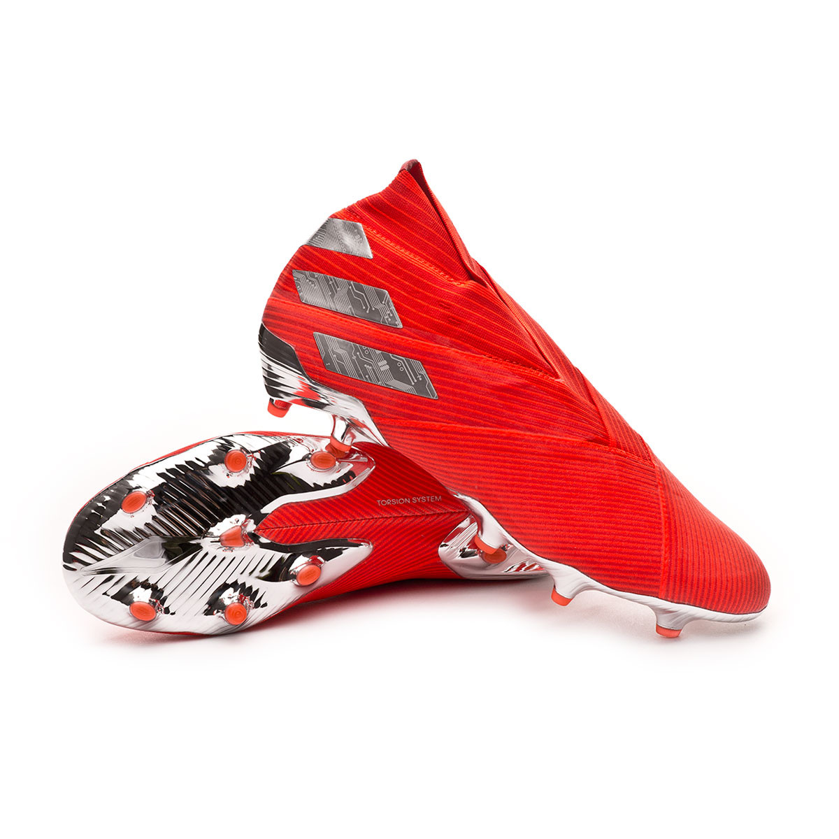 94557af8a Football Boots adidas Nemeziz 19+ FG Active red-Silver metallic-Solar red -  Football store Fútbol Emotion