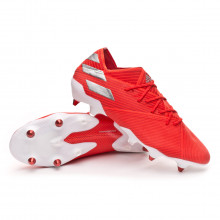 Football Boots Nemeziz 19.1 SG Active red-Silver metallic-Solar red
