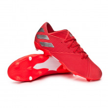Bota Nemeziz 19.2 FG Active red-Silver metallic-Solar red