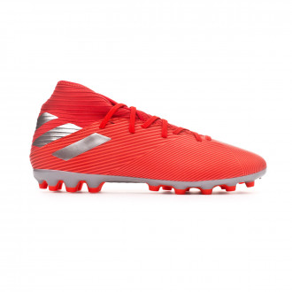 Chaussure de foot  adidas Nemeziz 19.3 AG Active red-Silver metallic-Solar red