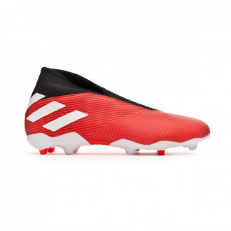 Chaussure de foot  adidas Nemeziz 19.3 Laceless FG Active red-White-Solar red