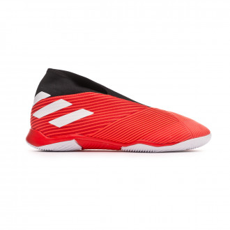 Sapatilha de Futsal  adidas Nemeziz 19.3 Laceless IN Active red-White-Solar red