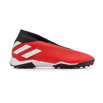 Football Boot  adidas Nemeziz 19.3 Laceless Turf Active red-White-Solar red