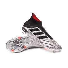 Chuteira Predator 19+ FG Silver metallic-Core black-Hi red