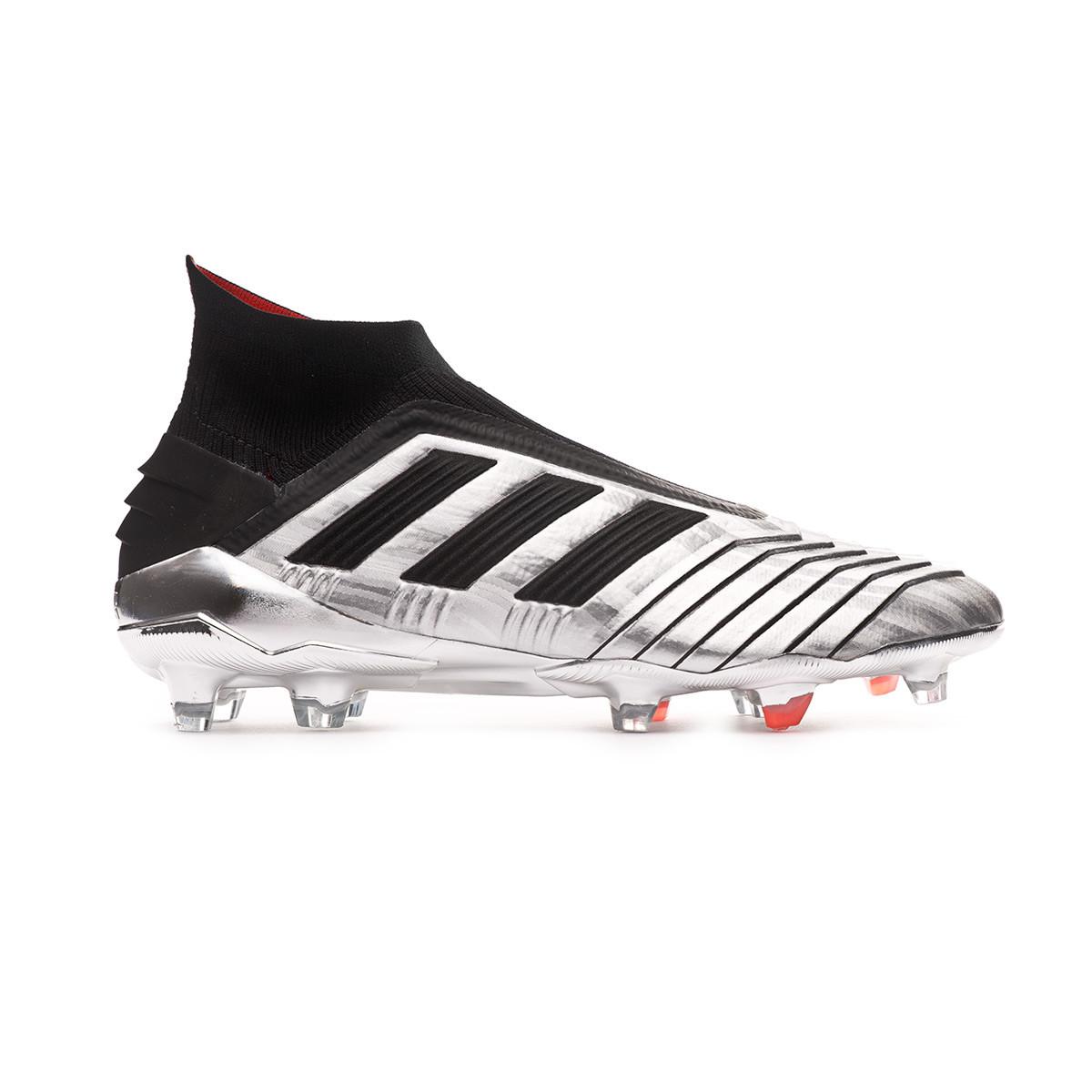 dc72595d Football Boots adidas Predator 19+ FG Silver metallic-Core black-Hi red -  Tienda de fútbol Fútbol Emotion