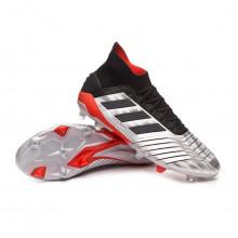 Football Boots Predator 19.1 FG Silver metallic-Core black-Hi red
