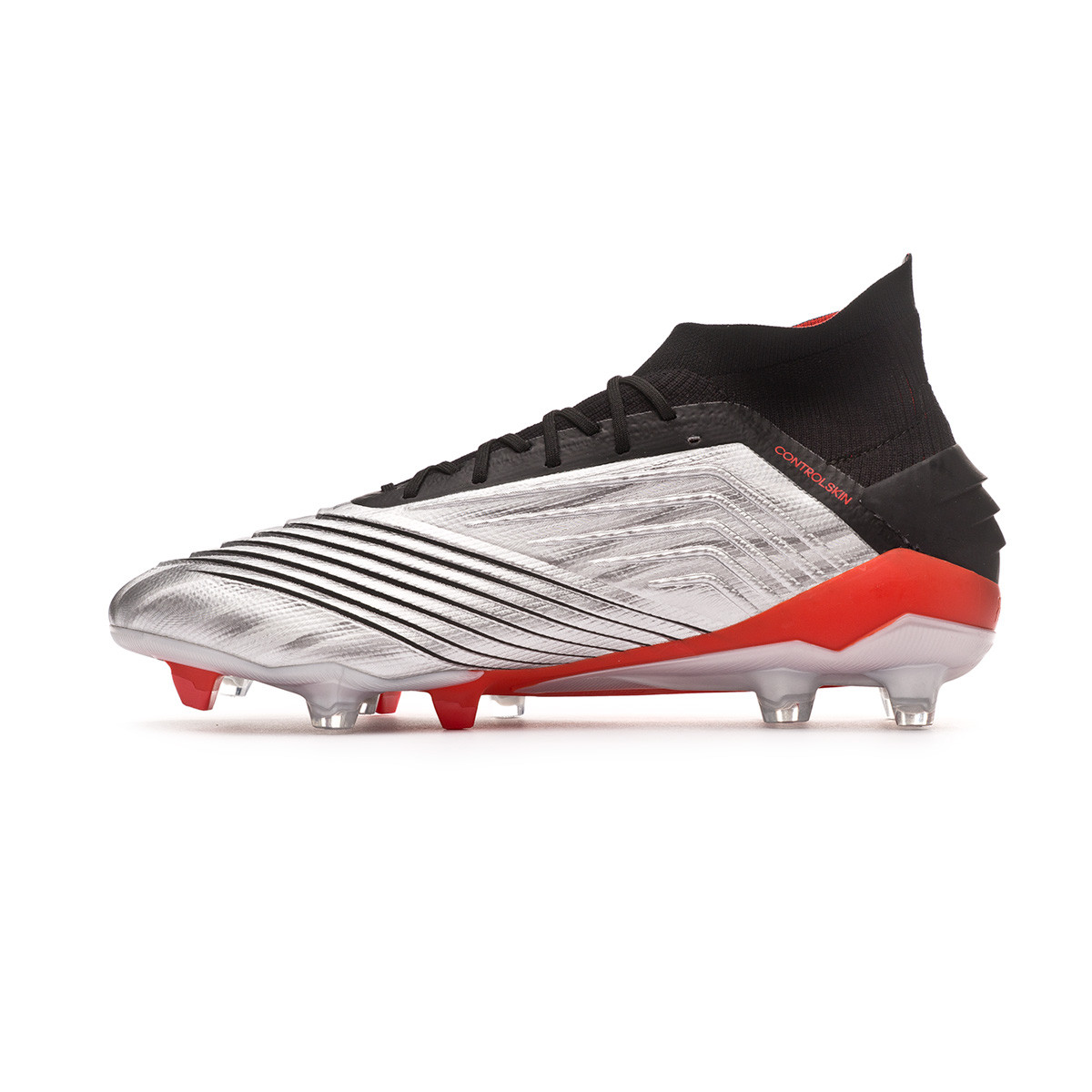 4da2f5172 Football Boots adidas Predator 19.1 FG Silver metallic-Core black-Hi red -  Football store Fútbol Emotion